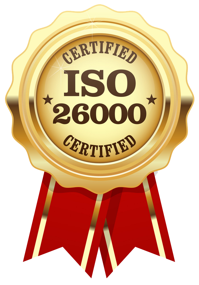 ISO 9001 and 26000 quality certification
